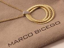 MARCO BICEGO CAIRO THREE-STRAND 18K  YELLOW GOLD DIAMOND NECKLACE PENDANT