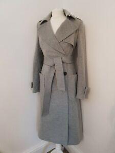 Karen millen Grey Tailored Coat Uk 14 Us 10 Eu 42