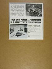1961 saalfeld aircraft Skyskootor Autogiro autogyro gyrocopter vintage print Ad