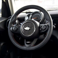 For Mini Cooper F55 F56 F60 Carbon Fiber Steering Wheel Sticker Cover Decoration