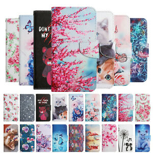 For Samsung Galaxy A22 A32 A42 A52 Case Painted Leather Wallet Flip TPU Cover