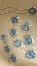 Dallas cowboys Bottle Cap Necklaces football party favors lot of 10 necklace nfl