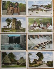 Panama, CA 1920s Postcards: Collection of EIGHT - Darien Indians/Taboga/Canal