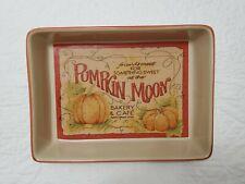 New ListingBeth Yarbrough Ceramic Rectangular Lasagna Casserole Baking Dish Pumpkin Moon