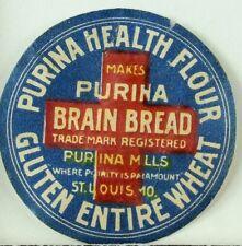 1880's-90's Purina Health Flour Brain Bread Gluten Entire Wheat Label F90