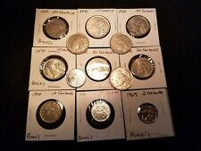 BRASIL CIRCULATED coin lot, 1969, to 1984 lot of 13 coins in total. World Coins