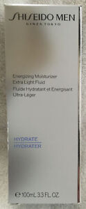 Shiseido Men Energizing Moisture Extra Light Fluid Hydrate Hydrater 3.3 ounce.
