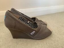 TOMS WEDGE OPEN TOE SHOES SIZE UK 4.5 US 6.5