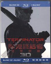 Terminator: Genisys (2015) TAIWAN 3D 2D BLU RAY STEELBOOK