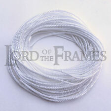 10m x 1.6mm POLYESTER PICTURE FRAME HANGING WHITE CORD Braided 8 Plait - 54kg