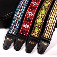 Folk Style Acoustic Electric Guitar Strap Belt Retro Hippie Band Nylon Vintage