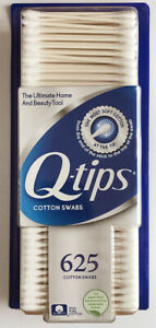 (1) Package 625 Q-Tips 100% Cotton Swabs