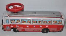 TIN BUS Japan Ride-On 19 inch BUS  Chiko 1950s -  fd