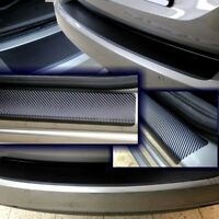 Ladekantenschutz Einstiegsleisten für  VW Caddy 4 ab 2015- SparSet Carbon Schutz
