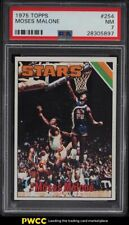 1975 Topps Basketball Moses Malone ROOKIE RC #254 PSA 7 NRMT