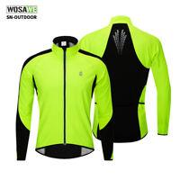 Winter Cycling Fleece Thermal Warm Jacket Long Sleeve Jersey  MTB Bike Clothing
