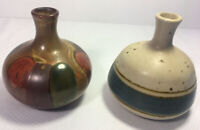 Set Of 2 Vintage Mid Century Japanese Mini Vases Otagiri & Trends Brands Rare