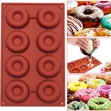 Silicone Doughnut Ice Mould Cake Donut Muffin Mold Chocolate Baki Pan Trayng UK