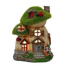 New listing< 00004000 /span> Teresa'S Collections Flocked Big and Mini Mushroom House Fairy Garden.