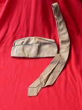 WW2 US Navy Officer Khaki Overseas GARRISON CAP w Sterling LT Bar + Dress Tie