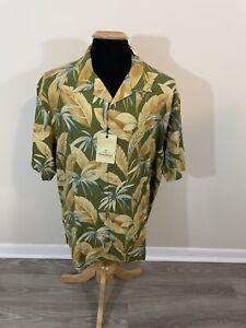 Tommy Bahama Fuego Floral 100% Silk Hawaiian Shirt BT319271, Mens XL - NWT $160