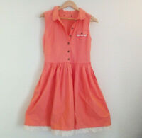 Vintage Style Atmosphere Salmon Pink Dress UK Size 12 - Very Good Condition