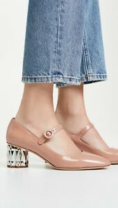 Salvatore Ferragamo Ortensia 55mm Patent Pumps Shoes NUDE( BLUSH ) 9 B