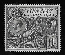 Gb George V, Sg 438 Gbp1 Black, Mog-Vf