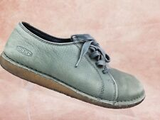 Keen Crepe Sole Shoe Size 7 Womens Gray Nubuck Leather Casual Lace Up