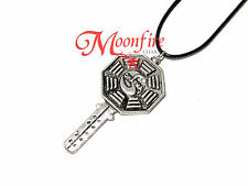 LOST DHARMA FAIL SAFE KEY PENDANT NECKLACE THE INITIATIVE ANTIQUED SILVER PLATED