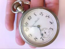 "1912 Hampden ""Champion"" OF Oresilver Pocket Watch. 18 S. 7 J. NEEDS TLC. BUY NOW"
