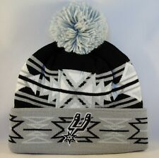 NBA San Antonio Spurs Mitchell & Ness Cuffed Knit Pom Hat