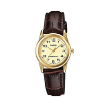 Casio LTP-V001GL-9BUDF Brown Leather Watch for Women