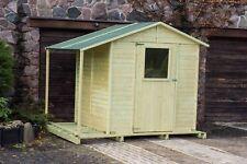 18 mm Gerätehaus + Schleppdach + Fussboden Gartenhaus Holz Haus Schuppen Anbau