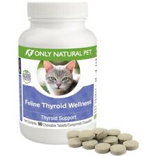 Only Natural Pet Feline Thyroid Support Wellness 90 Chew-able Tablets