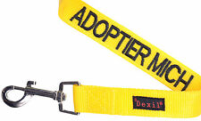 Dog Leash German Color Coded Yellow Adoptier Mich Helpful Safe Alert Padded Grip