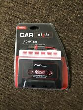 Car Digit W800 Car Audio Cassette Adapter For Mobile-Mp3-Cd In Your Car Black.