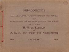 REPRODUCTIES FOTO'S VOORKOMENDE IN HET ALBUM OFFICIEREN LEGER NEDERLANDSCH-INDIE