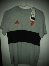 adidas 2019-20 Manchester United Youth Graphic Shirt Gray Black Youth Large NWT