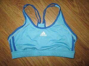 Womens ADIDAS CLIMALITE athletic sports bra sz M Md Med