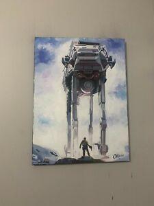 AT-AT Walkers Star Wars 18x24  Pop Art Painting Chris Cargill