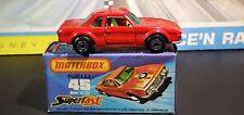 MATCHBOX S/F NO.45-B BMW 3.0 CSL RARE RED BODY, GREEN WINDOWS, U.K. CAST MIB