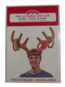 Holiday Time Inflatable Reindeer Antler Ring Toss Christmas Party Game Toy