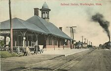 Minnesota, MN, Worthington, Railroad Station 1909 Postcard Train Depot