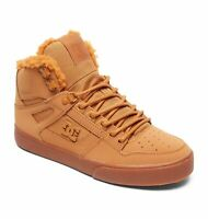 DC SHOES SKATE PURE HIGH TOP WC WNT WHEAT - WHITE ADYS400047 MENS UK 8  UK 8.5