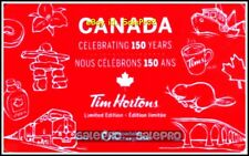 TIM HORTON 2017 CELEBRATING 150 YEARS OF CANADA TRAIN ETC COLLECTIBLE GIFT CARD