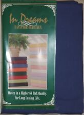 """New 10"""" Deep 4FT 3/4 Bed Fitted Sheet With 2 Free Pillowcases- Navy"""