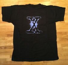 Vintage X-Files T Shirt Black Classic Cult TV - 1994 - Size XL - NEW Old Stock
