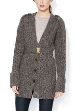 NWT $458 MARC BY MARC JACOBS MISHA V-NECK KNIT WOOL CARDIGAN SWEATER COAT S