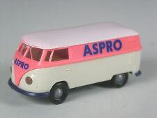 aus 1996: Brekina Frankreich Sondermodell Momaco VW T1 Kasten ASPRO France